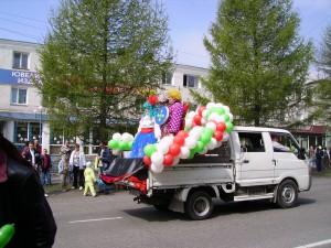 Веселый Карлсон на первом в истории Камчатки параде детских колясок - это я...